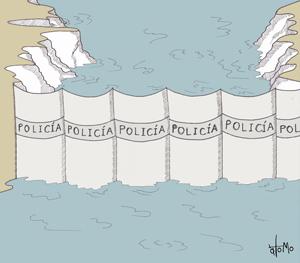 disegno quimbo polizia