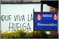 immagni della lotta contro la Nestlé
