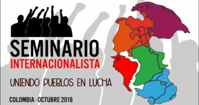 Seminario Internacionalista. Uniendo pueblos en lucha.