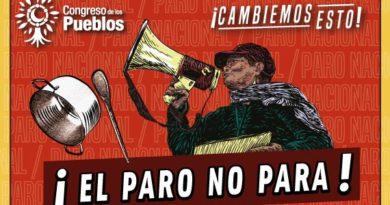 EL PARO SIGUE, CAMBIEMOS ESTO CON DIGNIDAD EN LAS CALLES
